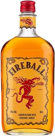 Licor de whisky.,Whisky canadiense y canela.,Sabor fuerte a canela y piñas de pino.,Arde como el inf