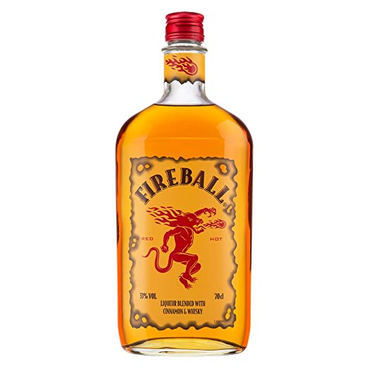 Fireball Cinnamon Whisky Liqueur, 70 cl