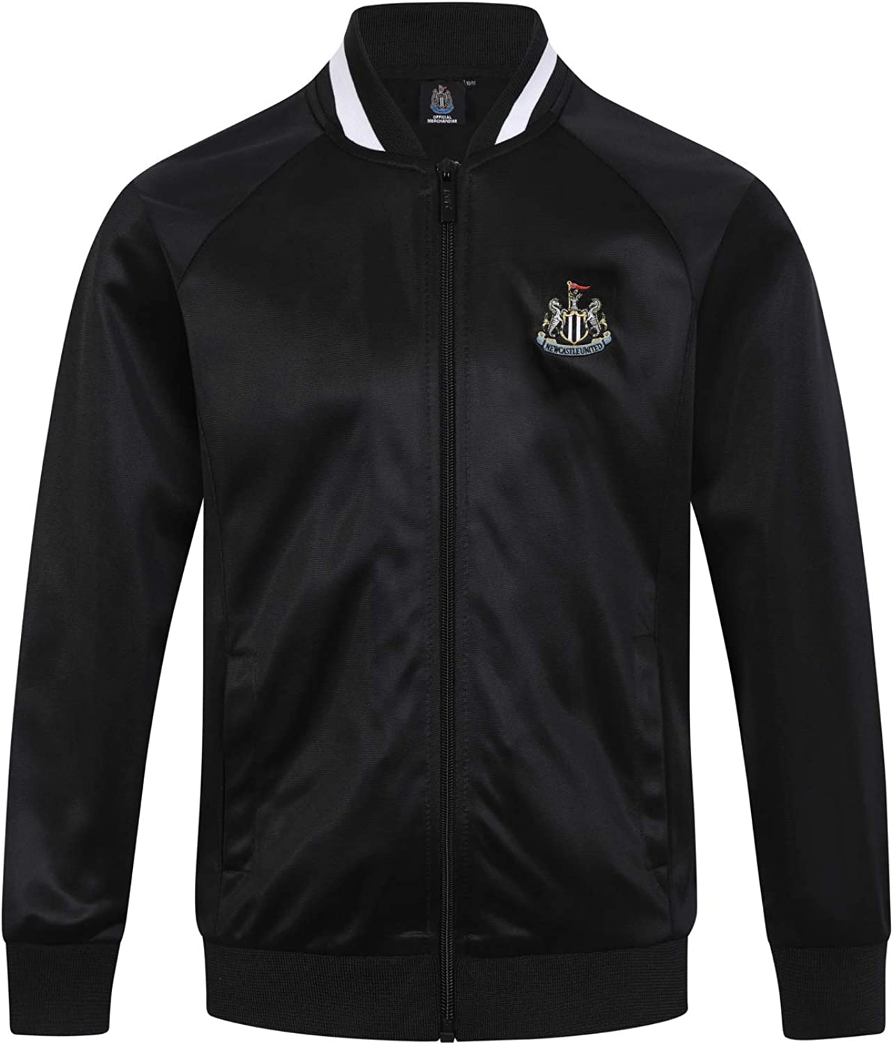 Newcastle United FC Official Football Gift Boys Retro Track Top Jacket