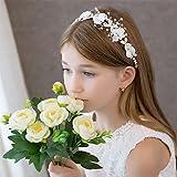 Campsis Cute Princess Wedding Headpiece White