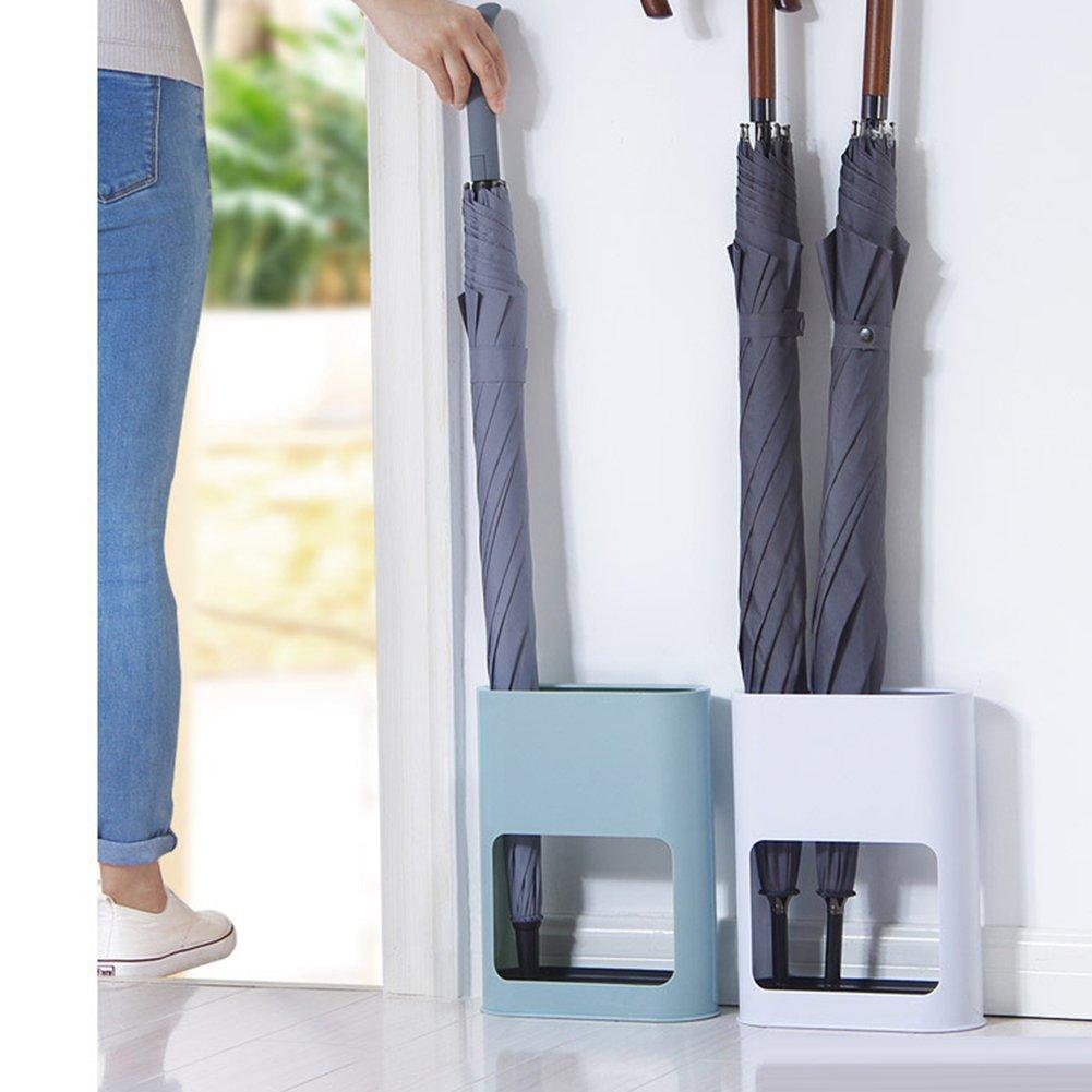 cubo de almacenamiento de paraguas de pl/ástico para el hogar y la oficina 22 Parag/üero con bandeja 9 28cm azul