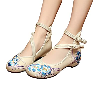 4405a7010434a Amazon.com | Kool Classic Women's Summer Embroidery Rubber Sole ...