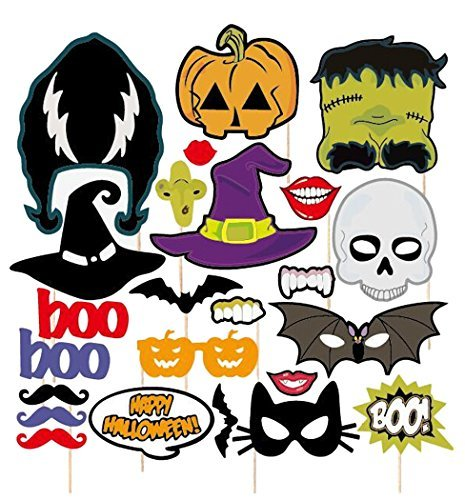 Coxeer 24Pcs Photo Booth Props on a Stick Halloween Funny Photo (Funny Halloween Photos)