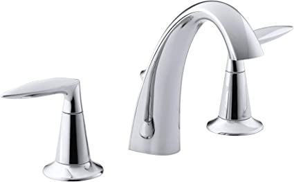Kohler Alteo 2 Handle Widespread Bathroom Faucet With Metal Drain Assembly In Polished Chrome K 45102 4 Cp Touch On Bathroom Sink Faucets Amazon Com