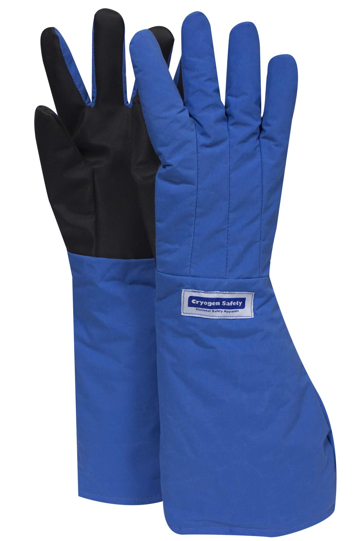 National Safety Apparel G99CRSGPMDEL Nylon Taslan and PTFE Elbow Waterproof Safety Glove with SaferGrip Palm, Cryogenic, 17'' - 18'' Length, Medium, Blue
