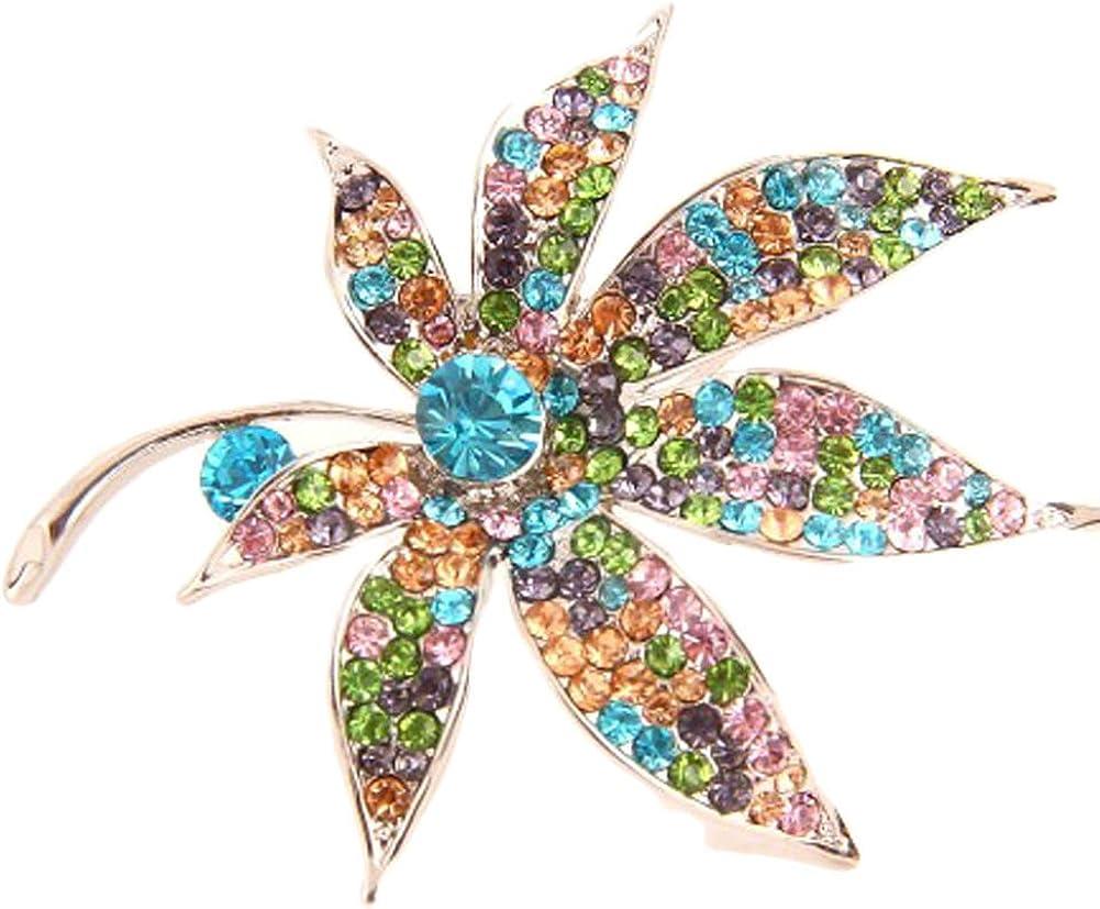 V G S Eternity Fashions Fashion Jewelry ~ Multi Color Rhinestone Flower Pin Brooch 06251-SMU