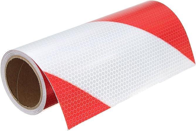 Alamor 5 Cm//10 Cm//20 Cm De Tr/áfico Advertencia Noche De Seguridad Tiras Reflectantes Rojo Flecha Blanca Etiqueta-10Cm