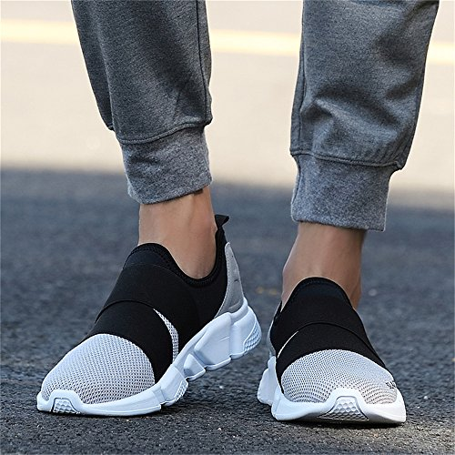Multi Men Women on Casual Running Breathable Mesh 8 Grey0 Elastic Slip Running Walking Shoes Lightweight Sport Size Sneakers Trainers Monrinda 5 4 7q5d7