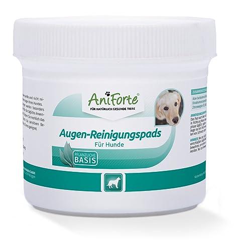 AniForte Augen-Reinigungspads 100 Stück für Hunde, Besonders schonende Reinigungstücher für die Augen-Pflege, Milde Augen-Rei