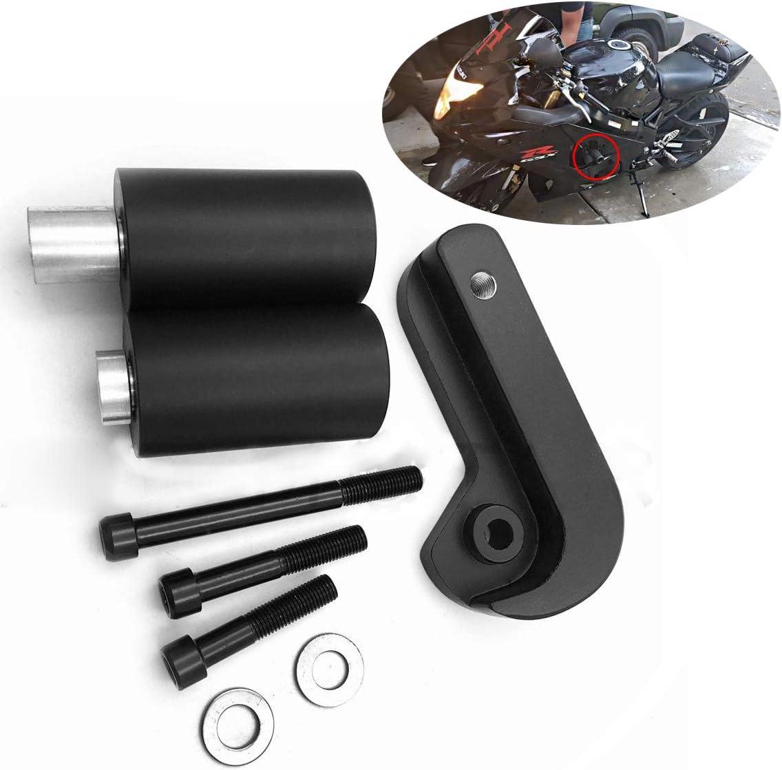 B00YWCU8J0 XKMT-No Cut Frame Slider Crash Protector Compatible With 2005 2006 Suzuki Gsxr 1000 Gsx-R Black