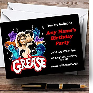 Grease personalised birthday party invitations amazon office grease personalised birthday party invitations stopboris Gallery