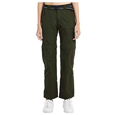 Yutona Women's Outdoor Quick Dry Convertible Lightweight Hiking Fishing Saturday Trail Zip Off Cargo Work Pant: Clothing