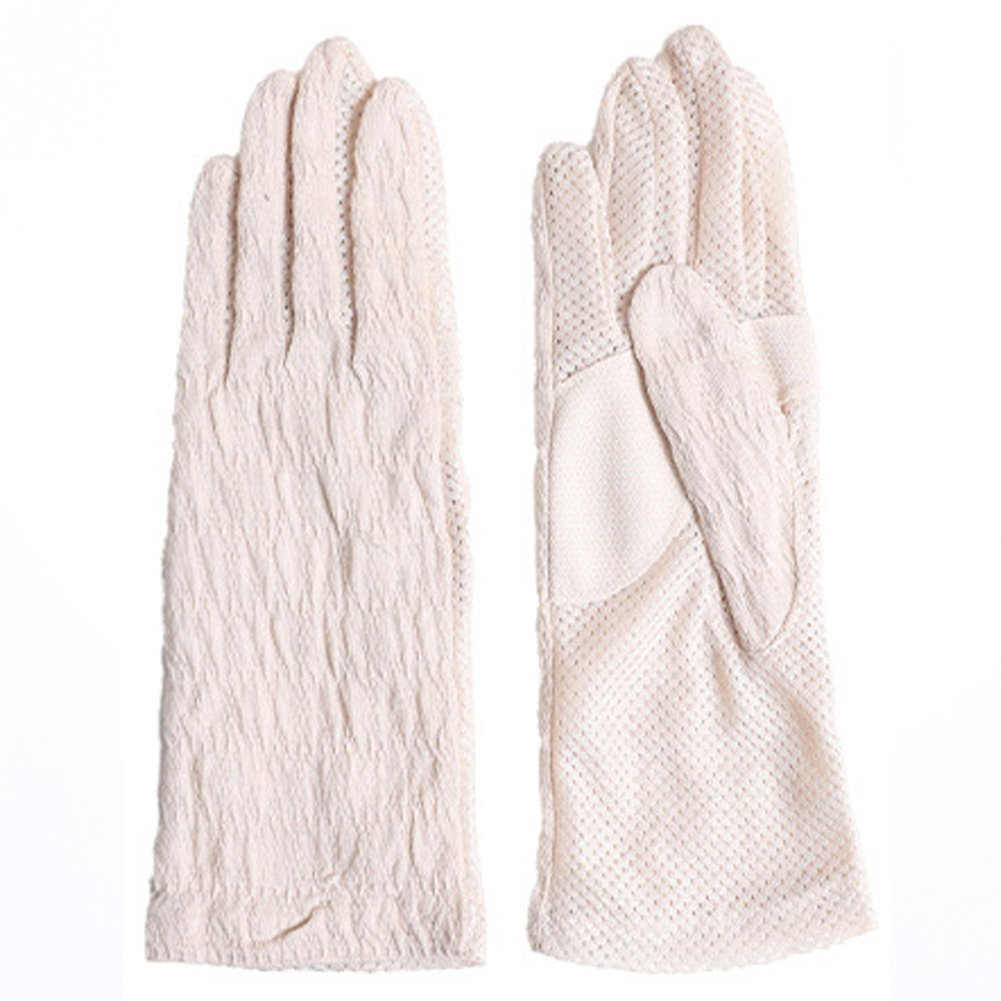 Women Summer Sun UV Protection Breathable Gloves Antimicrobial and deodorant-finished Anti Skid Driving Sunblock Mitten