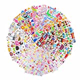 Kids Stickers (1200+ count) Bezgar 3D Puffy Stickers for Children? Kids? Scrapbooking, 20 Different Sheets, Including Animals, Cars, Trucks, Airplane, Ship, Letters, Numbers, Pets and Tons More!
