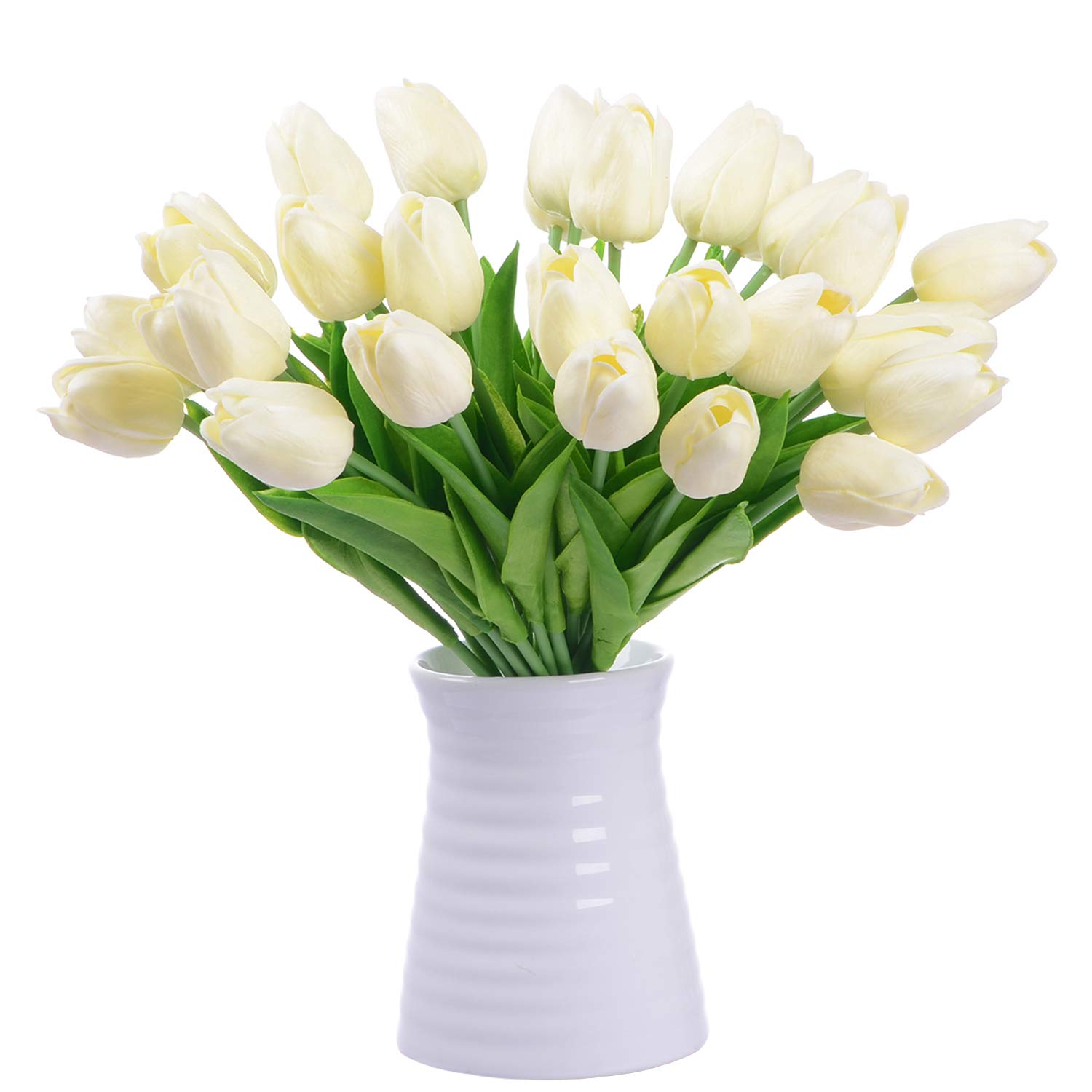DearHouse Artificial Tulips Silk Flowers - 20 Pcs Fake ...