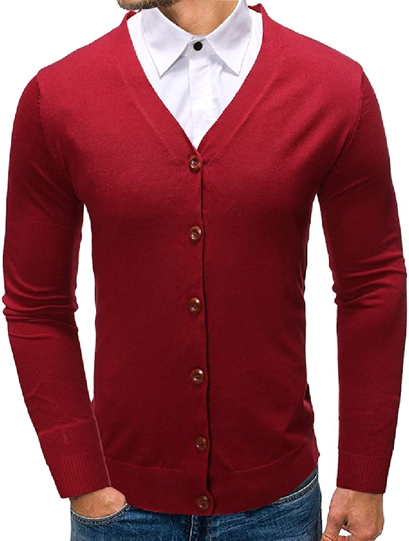 Gnao Men Regular Fit Stylish Striped Colorblock Casual Long Sleeve Button Down Shirts