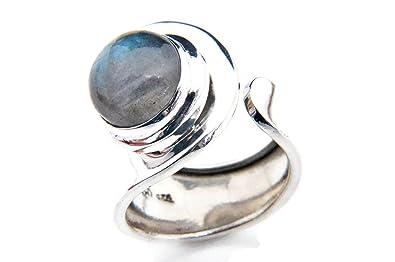 Ring 925 sterling silver Labradorite adjustable (MRI 10) K6ZMnP9zCP