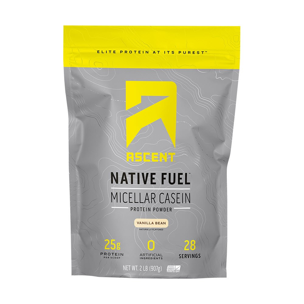 Ascent Native Fuel Micellar Casein Protein Powder - 2 Lbs - Vanilla Bean