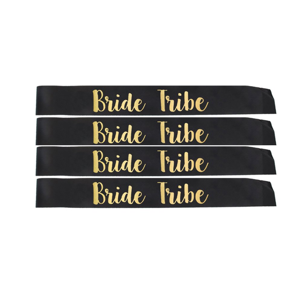Crazy Night Bride Tribe Sash Bridal Shower Gifts Bachelorette Party Favors-4Pcs Bride Tribe