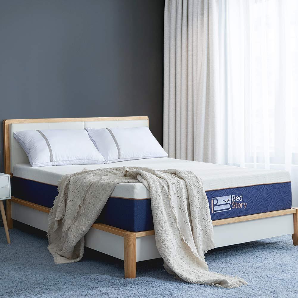 BedStory Lavender Memory Foam Mattress 12 Inch, Queen Mattress with CertiPUR-US Certified Foam, 10-Year Warranty