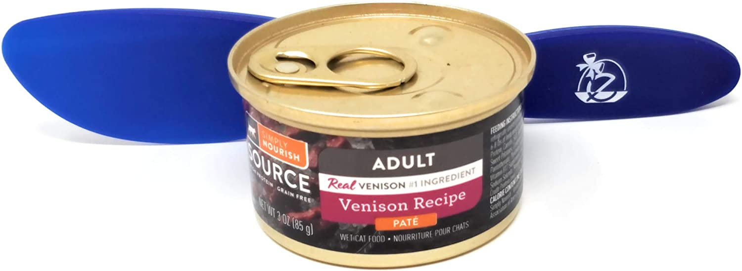SIMPLY NOURISH Source Wet Cat Food Adult Venison Recipe, Pate 3oz (Pack of 12) and Especiales Cosas Spatula