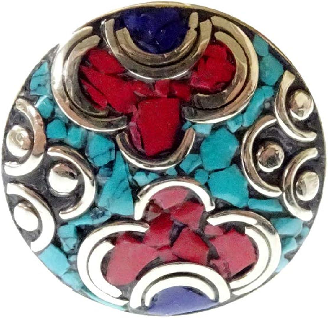 Anillo Ajustable de la Piedra Preciosa de lapislázuli de la Turquesa coralina para Las Muchachas de Las Mujeres, joyería echa a Mano Hecha a Mano de Boho de los Anillos por la joyería de la India