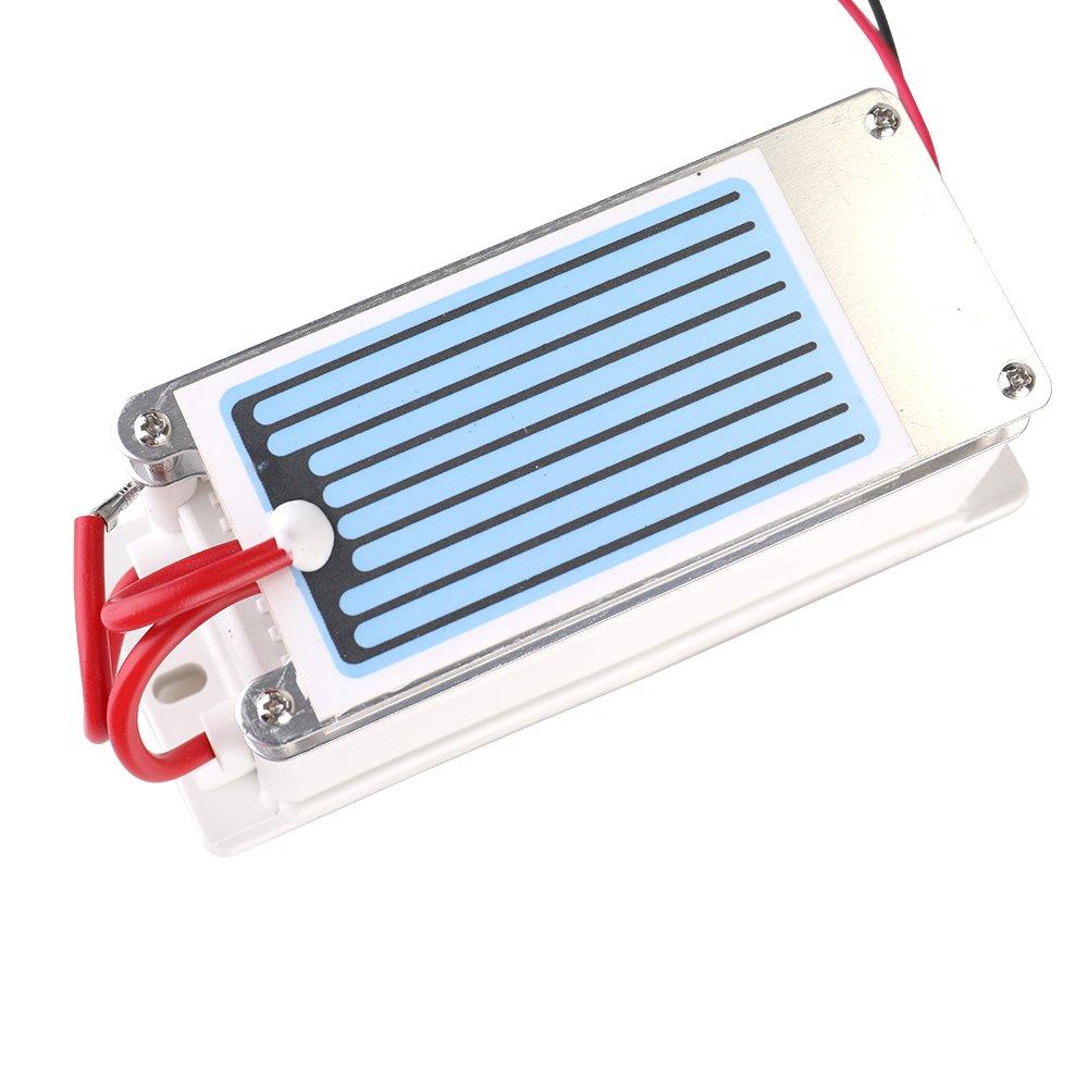 KKmoon Generador de cer/ámica port/átil del ozono del generador 7g h del ozono integrado del agua del ozonizador del purificador del aire para la f/ábrica qu/ímica