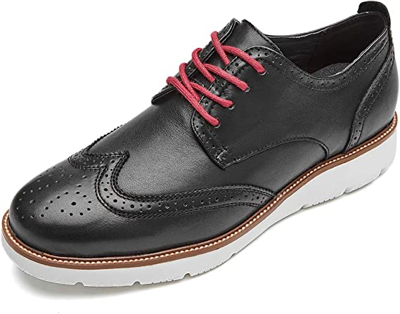 LAOKS Mens Wingtip Dress Shoes