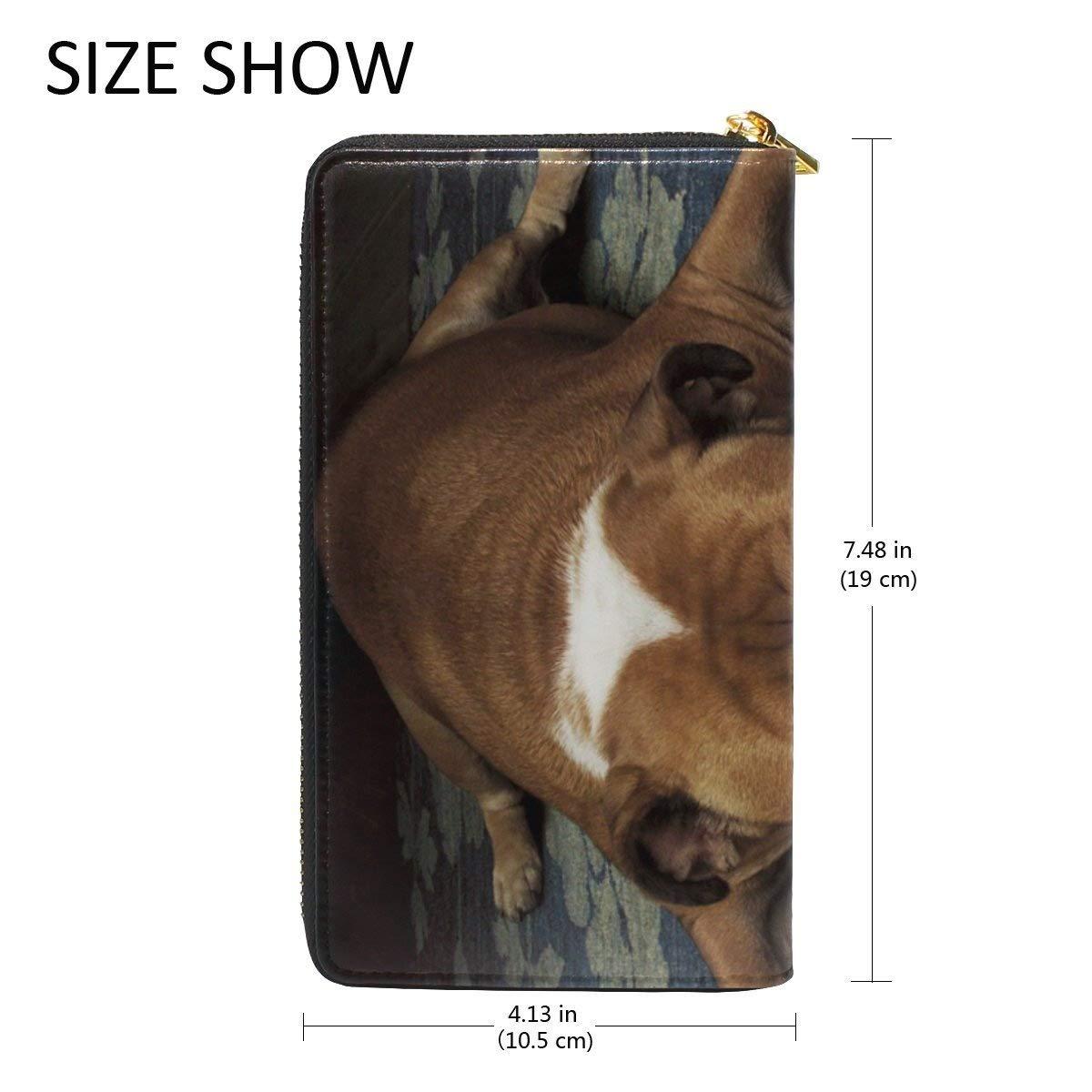 COOSUN Piel Triste del Dogo del Monedero del Embrague de Largo Carpeta del Organizador del portatarjetas L: Amazon.es: Equipaje
