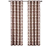 Cheap Set of 2 Panels 108″Wx63″L -Royal Tradition – Jacqueline -Chocolate – Jacquard Grommet Window Curtain Panels, 54-Inch by 63-Inch each Panel. Package contains set of 2 panels 63 inch long.