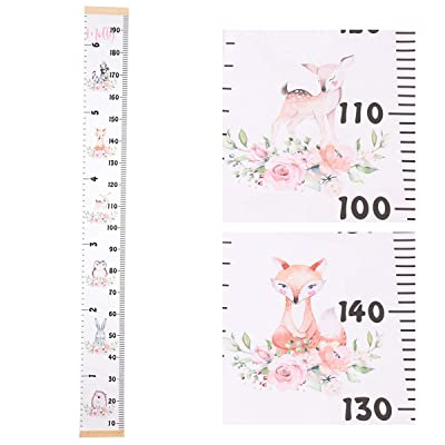 """Baby Growth Chart Ruler Canvas Height Ruler Removable Wall Ruler Room Decoration for Boys and Girls 79""""x7.9"""": Baby"""