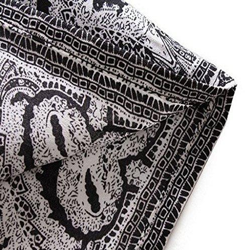 Tonsee® Rétro Bohème Femmes Totem Imprimé Floral Slim Mini Robe De Soirée Courte