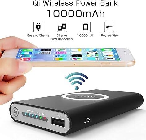 WXJHA 10000mAh Cargador inalámbrico múltiple sin Cable Funcional Banco Portable de la energía Bank Qi X para iPhone Samsung S6 S7 S8 el Powerbank Cargador del teléfono móvil inalámbrico: Amazon.es: Hogar
