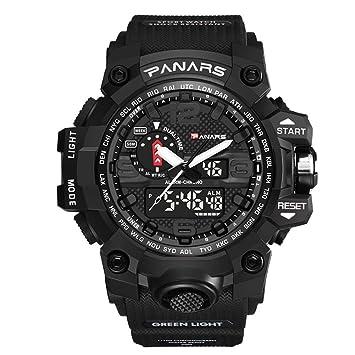 SW Watches PANARES Reloj Militar De Hombre Reloj De Pulsera De Cuarzo para Deportes Las Mejores Marcas De Lujo A Prueba De Agua,Black: Amazon.es: Deportes y ...