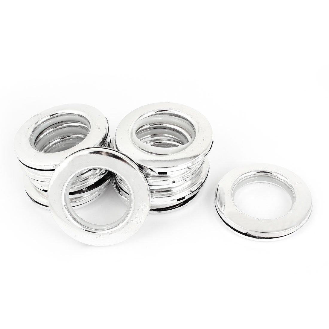 sourcingmap® 10pz argentato plastica 41mm dia interno romano finestra cieco degli anelli della tenda a14121900ux0384