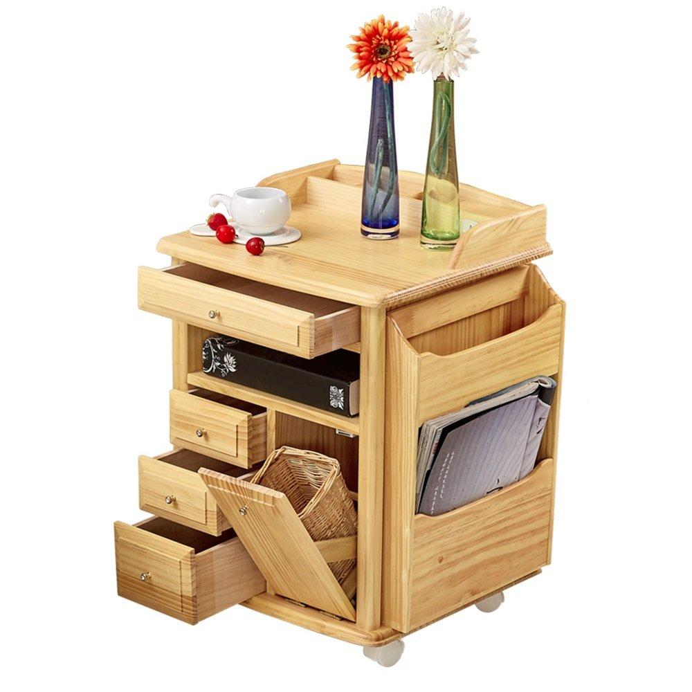 QING MEI ベッドサイドテーブルソリッドウッド、ベッドサイドテーブルソファサイドテーブルロッカーベッドサイドテーブルベッドルームベッドサイドテーブル、自蔵 A++ B07L96SGJV