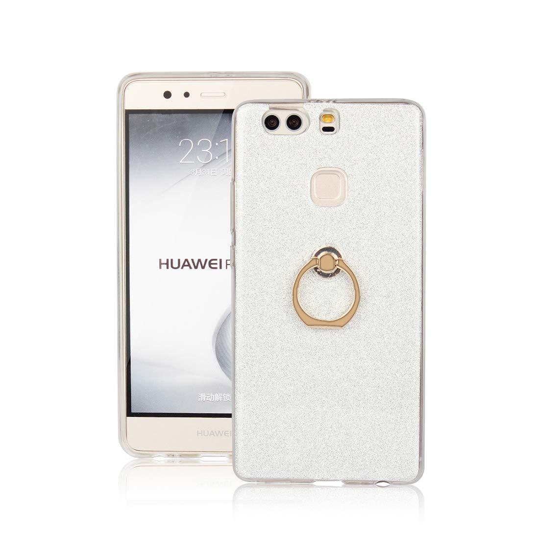 Cover Huawei P9 Plus, Lyzwn Case Cover di Alta Qualità in Silicone TPU Bumpe Custodia con Glitter Bling Scintillante Brillantini per Donna per Ragazze e Lucida Custodia