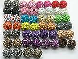 U Pick!100pcs 10mm Alloy Rhinestone Beads Charm Disco Ball Bracelet/Necklace Bead