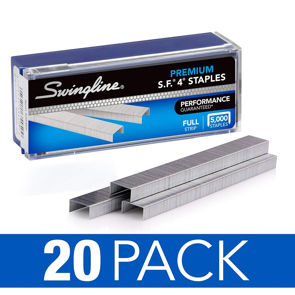 Swingline Staples, S.F. 4, Premium, 1/4'' Length, 210/Strip, 5000/Box, 20 Boxes/Case, 1 Case (S7035450P-CS) by Swingline