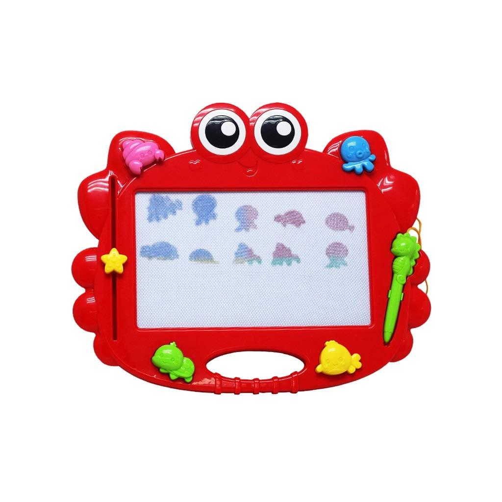 LIUFS Magnetisch Gemalte Brett-Karikatur-Malerei-Spielwaren Der Kinder ( Farbe : ROT , größe : S )