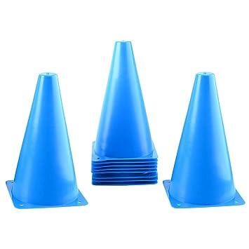 10PCS Football Training Cones Highest Quality Marker Cones RANGE OF COLOURS