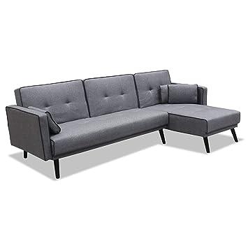 Muebles Baratos Sofa Cama con Chaise Longue, Subida ...