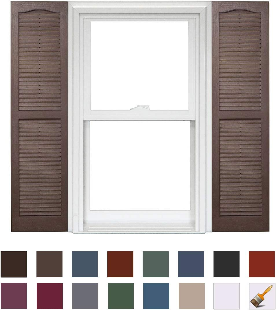 044 Cranberry x 39in Homeside Open Louver Shutter 1 Pair 14-1//2in