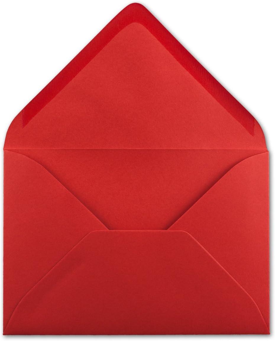 transparentes 25 Umschl/äge 29-Rot Neuser Enveloppes color/ées C5/229/x/162/mm avec fermeture adh/ésive