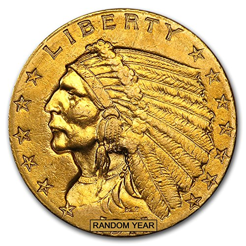 (1908-1929 $2.50 Indian Gold Quarter Eagle (Cleaned) $2.50 Very Good)