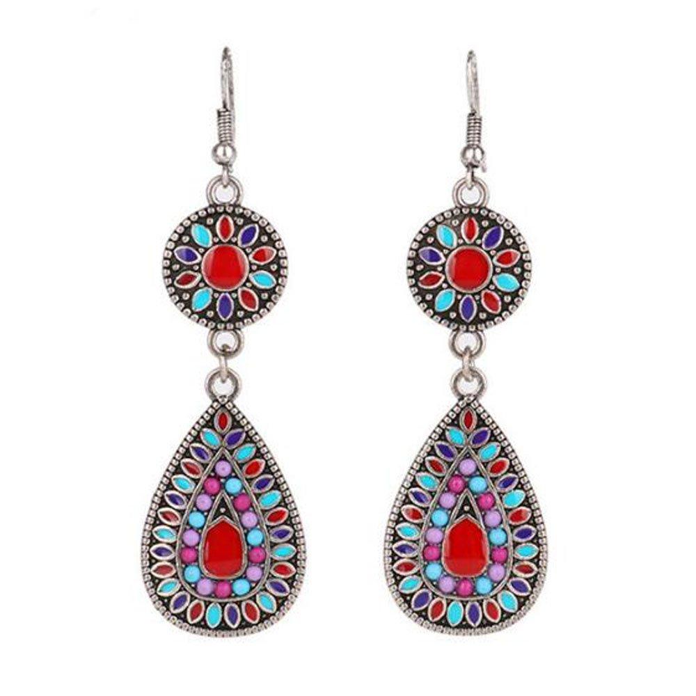 Women's Bohemian Fashion Retro Colourful Drop & Dangle Earrings