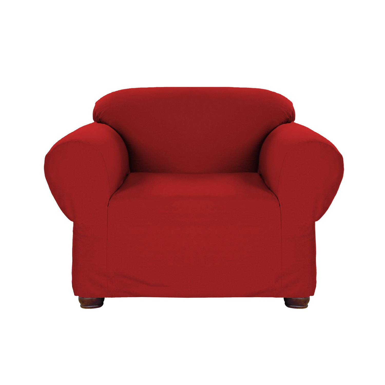 Amazon.com: Rojo Jersey Stretch Slipcover, sofá Cover, sofá ...