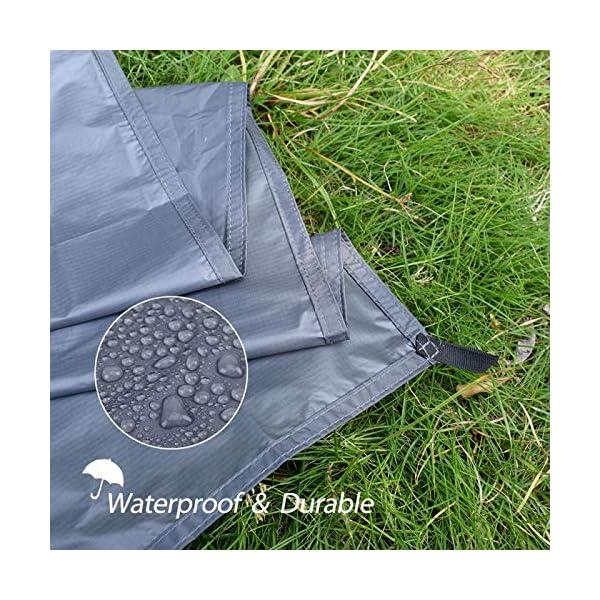 61pGYYHuwXL GEERTOP Schutzplane Zeltplanen Zeltunterlage 1-4 Personen 20D leichte wasserdicht für Zelt Wanderungen Camping Picknick