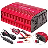 DEFLAM 400W Power Inverter DC 12V to 110V AC Car Inverter Outlets with 4.8A Dual USB Ports Charger Travel Kit Portable Converter for Laptop