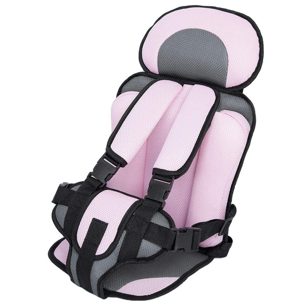 SUV Light Blue Breathable Adjustable Children Car Seat Cushion Comfortable Thickening Car Seat Protector Cover Cushion Pad Pillow Neck Support Cushion Pad and Seatbelt for Most Car Truck